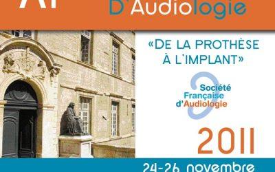 11ème Congrès de la Société Française d'Audiologie MONTPELLIER 2011