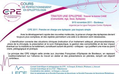 27ème Cours de Perfectionnement en Epileptologie BORDEAUX 2011
