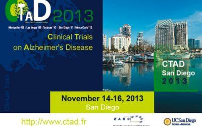 CLINICAL TRIALS ON ALZHEIMER'S DISEASE SAN DIEGO 2013