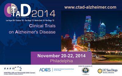 CLINICAL TRIALS ON ALZHEIMER'S DISEASE PHILADELPHIE 2014