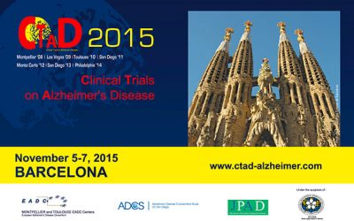 CLINICAL TRIALS ON ALZHEIMER'S DISEASE BARCELONE 2015