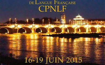 113ème Colloque International de l'association CPNLF TOURS 2015