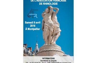 Journée de Printemps de l'Association Française de Rhinologie MONTPELLIER
